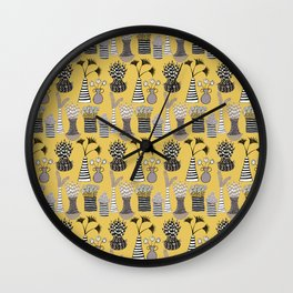 Vases and Stripes Wall Clock