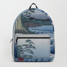 Sea Off Satta - Japanese Woodblock Print by Hiroshige Backpack