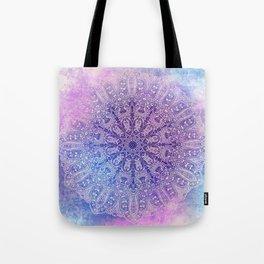 big paisley mandala in light purple Tote Bag