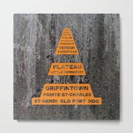 Montreal Traffic Cone Metal Print
