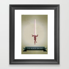 Root Sword Framed Art Print
