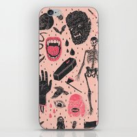 heart iPhone & iPod Skins featuring Whole Lotta Horror by Josh Ln