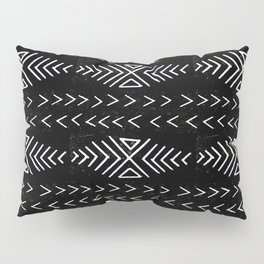 mudcloth 4 minimal textured black and white pattern home decor minimalist Pillow Sham