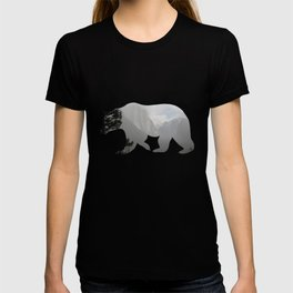 Grizzly Bear with Yosemite Photo Inlay T-shirt