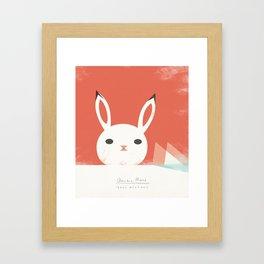 Arctic Hare Framed Art Print