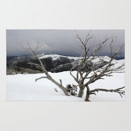Snowstorm on the Mountain Rug