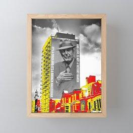 Leonard Cohen Mural Montreal Digital Paint on Photo Framed Mini Art Print