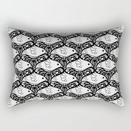 Bird and Butterfly - can you see both? Rectangular Pillow