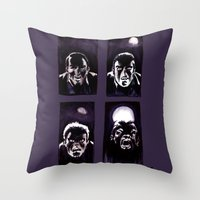 howl Throw Pillows featuring Howl by Zombie Rust