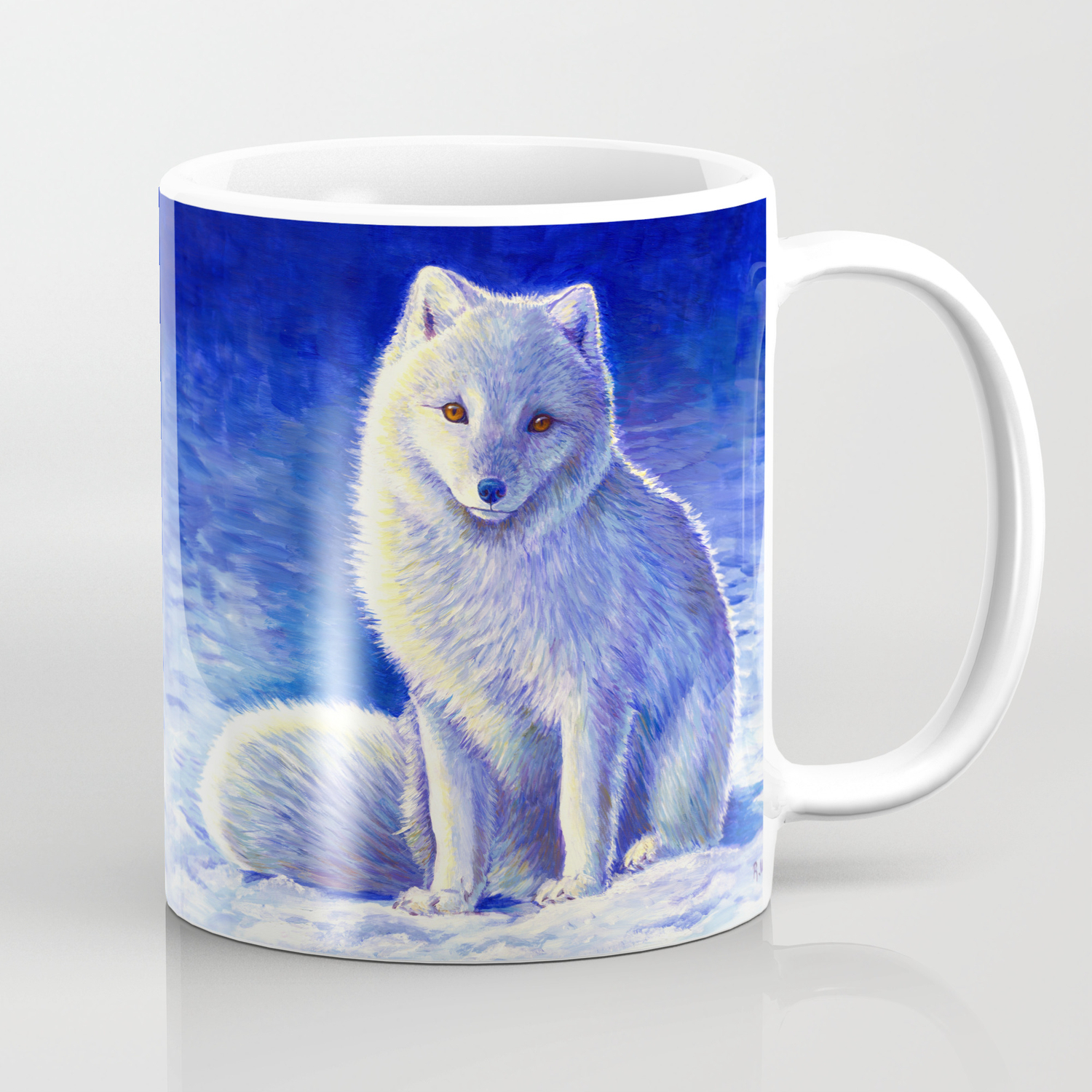 Peaceful Winter Arctic Fox Coffee Mug By Psychedeliczen Society6