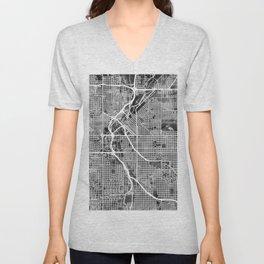 Denver Colorado Street Map Unisex V-Neck