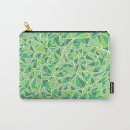 Green Triangles Carry-All Pouch