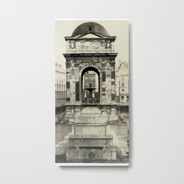 Fountain of the Innocents, Paris, France Metal Print