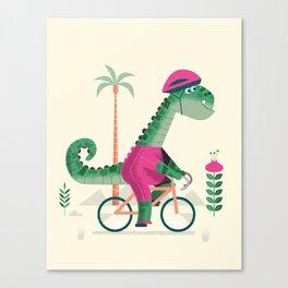 dino rider Canvas Print