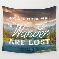 tolkien Wall Tapestries featuring Not All Those Who Wander Are Lost by Crafty Lemon
