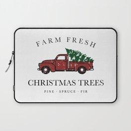 Christmas Tree Farm Vintage Truck Laptop Sleeve