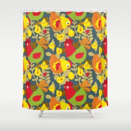 Chickens in the Farmyard Shower Curtain