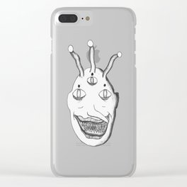Three Eyed Alien Clear iPhone Case