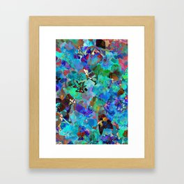 Hawaiian Jungle Batik Framed Art Print
