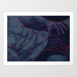 Avant le Plaisir sous la Lumiére Bleue Art Print