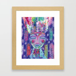 the warrior within Framed Art Print