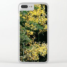 Gold and Evergreen Clear iPhone Case