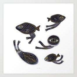 underwater surreal creatures Art Print
