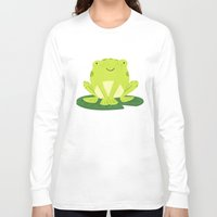 frog Long Sleeve T-shirts featuring Frog by Claire Lordon