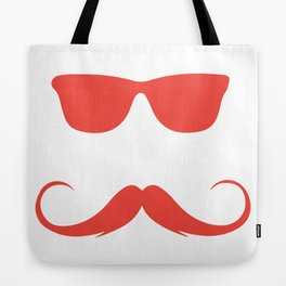 Mustage Hipster Raybans Tote Bag