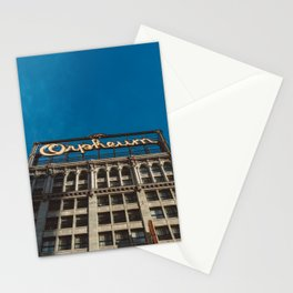 Orpheum Theatre Los Angeles V Stationery Cards