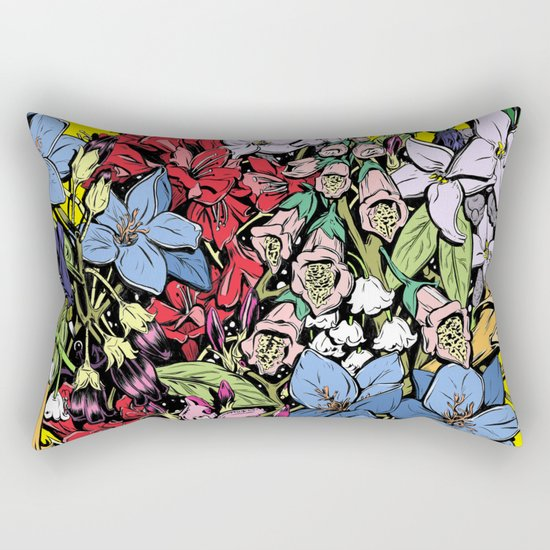 Flowers in Color Rectangular Pillow