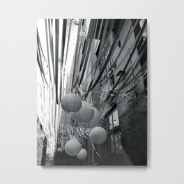 Lanterns and Streamers Metal Print