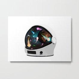 Astronaut space jellyfish Metal Print
