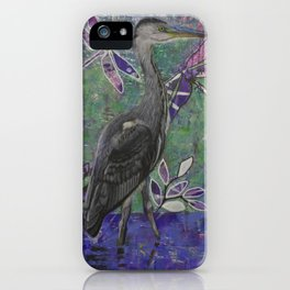 Heron stands in the Dee iPhone Case
