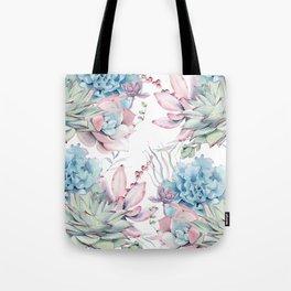 Pretty Pastel Succulents Garden 2 Tote Bag