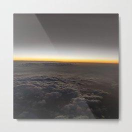 AIRPLANE WINDOW SUNSET Metal Print