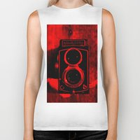 vintage camera Biker Tanks featuring Camera by short stories gallery