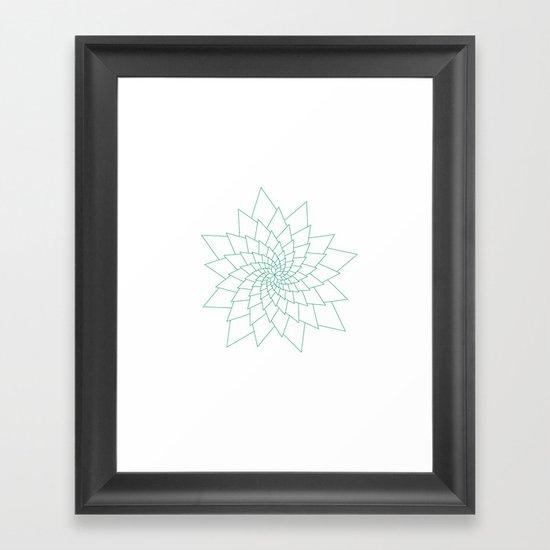 #307 Aster – Geometry Daily Framed Art Print