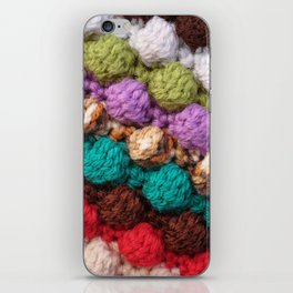 Bobbly colourful knitting iPhone Skin