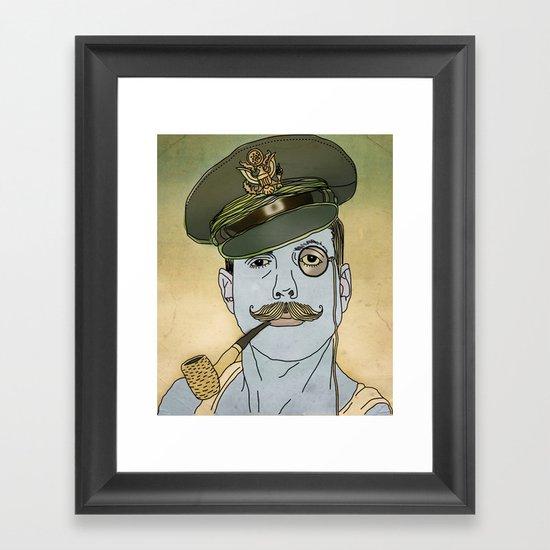 smokin pipe  Framed Art Print