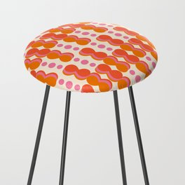 Uende Sixties - Geometric and bold retro shapes Counter Stool