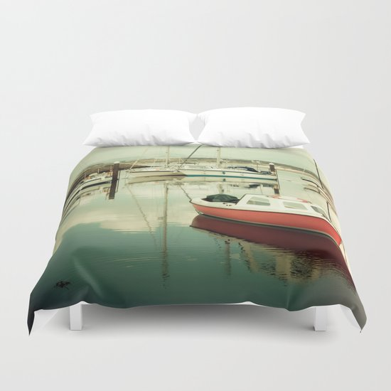 Little Orange Boat III Duvet Cover