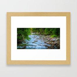 javeed_yosemity_stream Framed Art Print