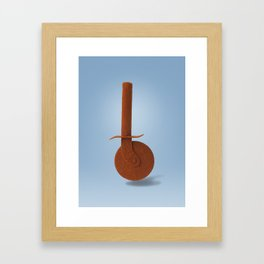 Pizza knife and paprika Framed Art Print
