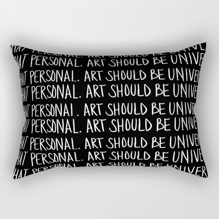"""Black Art""-1 Rectangular Pillow"