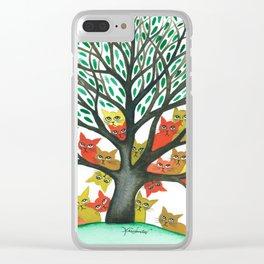 Nebraska Stray Cats in Tree Clear iPhone Case