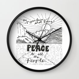 Peaceful Mountains Wall Clock