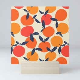 Scattered Peaches in Red and Yellow Mini Art Print