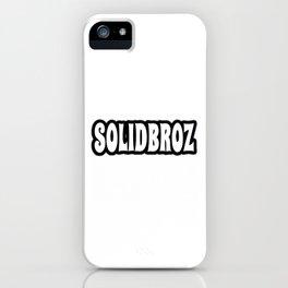 Solidbroz (Logo) iPhone Case