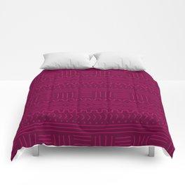 Mud Cloth in Raspberry Comforters